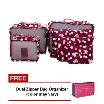 Harga Bags in Bag 6 in 1 (Maroon) with Free Dual Zipper Bag (Color May Vary)