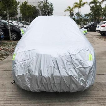 PVC Anti-Dust Sunproof SUV Car Cover With Warning Strips, Fits Cars Up To 5.1m(199 Inches) In Length - intl Price Philippines