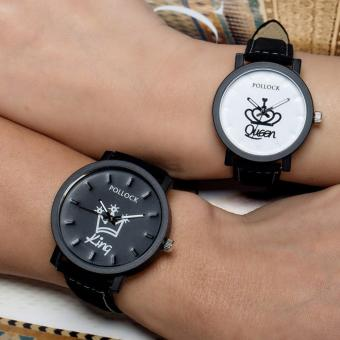 Fashion Causal KING QUEEN couples watches gifts watches Set of 2 Price Philippines