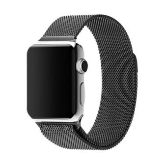 GAKTAI Milanese Magnetic Loop Stainless Steel Strap Watch Bands For Apple Watch iWatch 42mm (Black) Price Philippines