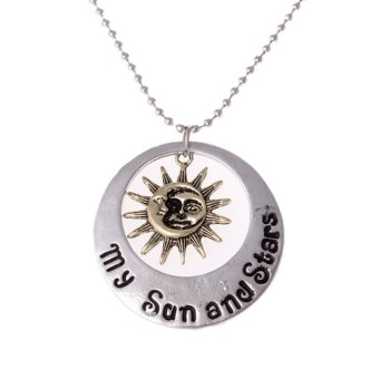 Harga New Game of Thrones Moon of My Life My Sun and Star Metal Pendant Silver - intl