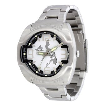 UniSilver TIME Makabayan Dakilang Bayan Men's Silver / Black / White Analog Stainless Steel Watch KW689-2481 Price Philippines