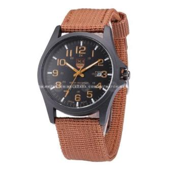 Harga Xinew Men's Swiss Design Outdoor Sports Canvas Strap Watch