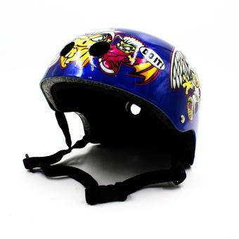 Harga Motor Craze Half Face Crash Safety Do it Printed Passenger Helmet (Blue)