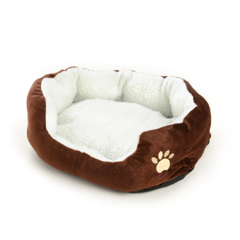 Harga New Pet Dog Puppy Cat soft Fleece Warm Bed Kennel Plush Mat Pad Cozy Nest Medium