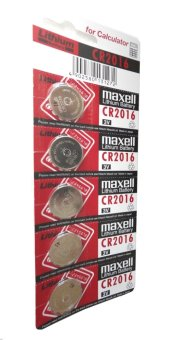Harga Maxell Lithium Battery CR2016 Pack of 5