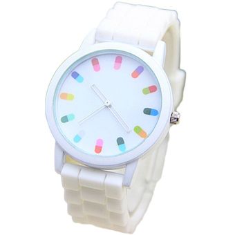 Fancyqube Pills Pattern Color Pointer Watches White Price Philippines