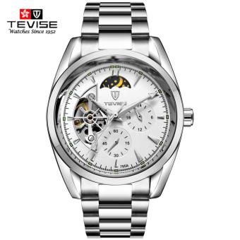 TEVISE Stainless Steel Men Mechanical Watch 3ATM Waterproof Moon Phase Tourbillon Man Watches For Male - intl Price Philippines