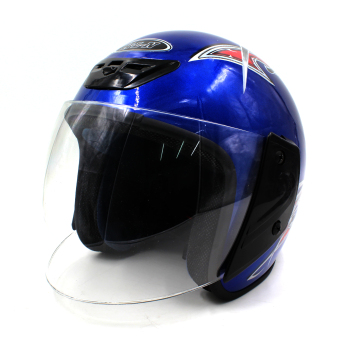 Harga Motor Craze 518 Printed Rounded Open Face Motorcycle Helmet (Blue)