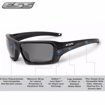 Harga Black ESS Rollbar Black Sunglasses Unique interchangeable lens system