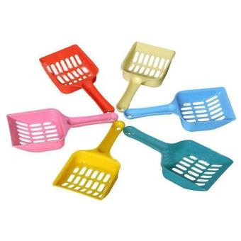 Harga New Plastic Pet Dog Cat Kitten Litter Scoop Scooper Cleaning Tool Randomly - intl