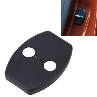 4 PCS Car Door Lock Buckle Decorated Rust Guard Protection Cover For Toyota RAV4 Corolla Reiz VIOS Camry Highlander Yaris Prado Prius Crown - intl Price Philippines