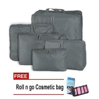 Bags in Bag 5 in1 (Gray) with Free Roll N Go Cosmetic Bag (Color May Vary) Price Philippines