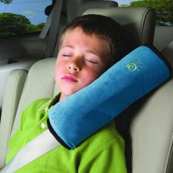 Child Safety Head Rest Pillow for Seat Belt - Blue Price Philippines