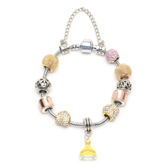 Harga Athena & Co. Beauty And The Beast Inspired Belle Charm Bracelet (Yellow)