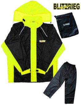 Blitzkrieg® MJ-Series MJ-51 Motorcycle Ultra Durable RainCoat & Jacket Set With Pants Touring (Neon Green) Price Philippines