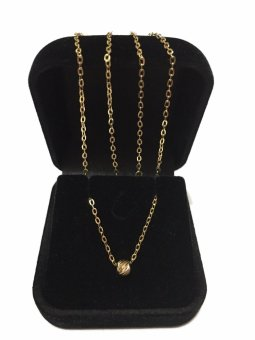 Harga ZYT House of Gold 100% Authentic Saudi Gold 18K Alcine Necklace with Filled Dot Pendant (Pawnable)