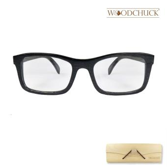 Harga Woodchuck Black Bamboo Prescription Eyeglasses (Petite) (Black)