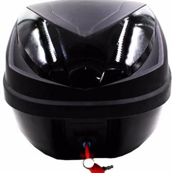 Harga Hansen HNJ Motorcycle/Scooter Top Box Tail Trunk Luggage Compartment Box (Black)