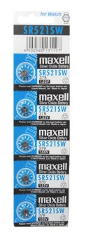 Harga Maxell SR521SW Silver Oxide Battery Pack of 5
