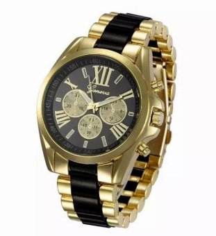 Geneva Women Alloy Strap Watch (Gold/Black) Price Philippines