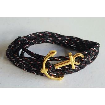 Fashionable Anchor Bracelet (Black/White) Price Philippines