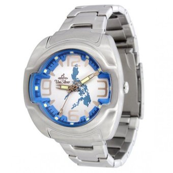 UniSilver TIME Makabayan Dakilang Bayan Men's Silver / Light Blue / White Analog Stainless Steel Watch KW689-2483 Price Philippines