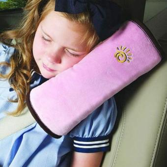 Child Safety Head Rest for Seat Belt - Pink Price Philippines