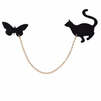 Hequ HOT 1 PCS Fashionable Creative Fruit Squirrel Birds Butterflies Cat Pins For Women brooch Gold - intl Price Philippines