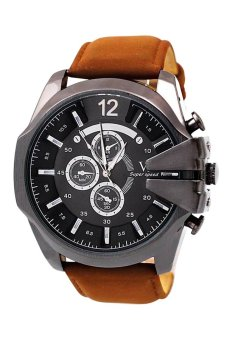 OEM Casual Men's Brown Leather Strap Watch 11045 Price Philippines