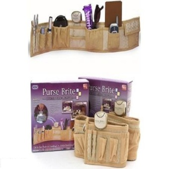 Purse Brite Lighted Purse Bag Handbag Organizer (Brown) Price Philippines