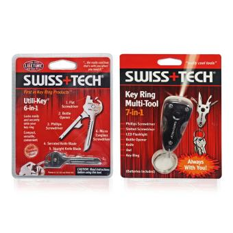 Harga Swiss Tech Multi-Purpose Utility Tools 6 in 1 Utility Key and Swiss Tech 7 in 1 Key Ring Set of 2