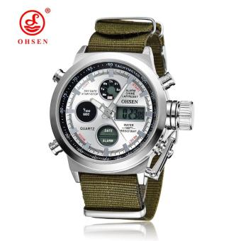 Harga Hot Selling Original Famous Brand OHSEN Digital Sport Mens Watch Male Clock Nylon Band Fashion Diving Wristwatches For Men Gift