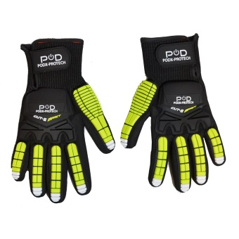 Power On Demand POD-Protech Large Work Gloves (Black/Green) Price Philippines