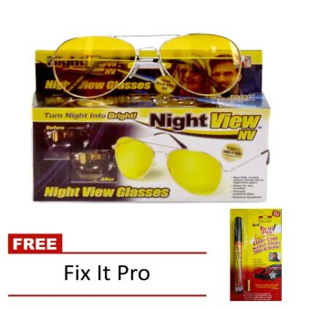 Night View Glasses (Yellow) with FREE Fix It Pro Price Philippines