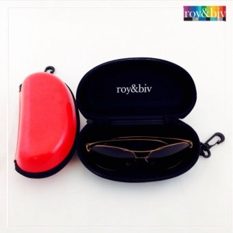 Harga Roy & Biv Glossy Eyeglass Case With Hook (Red)