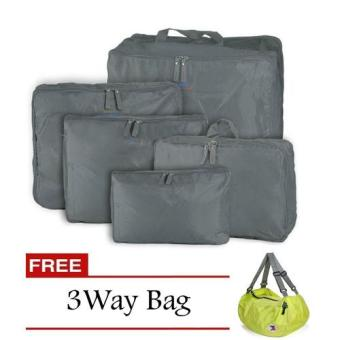 Harga Bags in Bag 5 in1 (Gray) with Free 3 Way Bag (Color May Vary)