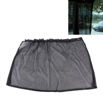 2PCS Suction Cup Mesh Window Curtains Car Sun Shade 46 Cm X 44 Cm(Black) - intl Price Philippines