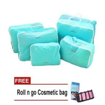 Bags in Bag 5 in1 (Blue) with Free Roll N Go Cosmetic Bag (Color May Vary) Price Philippines
