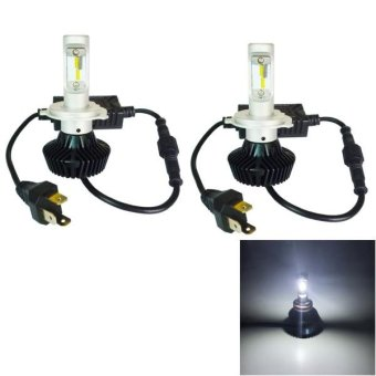 2 PCS WEIYAO V9 H4 60W 6000LM 6500K White Light Car 16 Philips Lumileds ZES LEDs Headlight Kit With Driver, DC 0-36V - intl Price Philippines