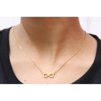 Stainless Steel Infinity Necklace -Gold Price Philippines