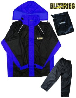 Blitzkrieg® MJ-Series MJ-51 Motorcycle Ultra Durable RainCoat & Jacket Set With Pants Touring (Blue) Price Philippines