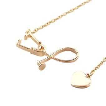 Kuhong Stethoscope + Peach Heart Alloy necklace - intl Price Philippines