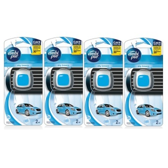 Ambi Pur Car Mini Clip Sky Breeze Car Air Freshener 2ml Set of 4 (Blue) Price Philippines