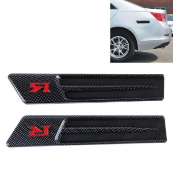 Yuesheng 2 PCS Car Side Air Intake Flow Vent Fender Decorative Stickers Cover - intl Price Philippines