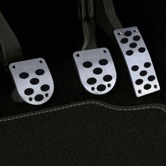 3 PCS Universial Stainless Steel Car Safty Manual Gas Brake Pedals Pads - intl Price Philippines
