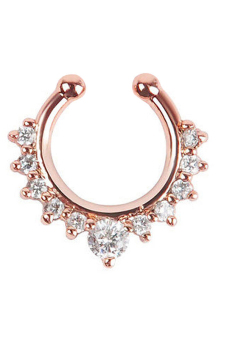 Harga Jetting Buy Nose Ring Fake Septum Clicker Non Piercing Rose Gold