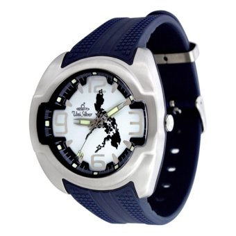 UniSilver TIME Makabayan Dakilang Bayan Men's Navy Blue / Silver / White Analog Rubber Watch KW689-2033 Price Philippines