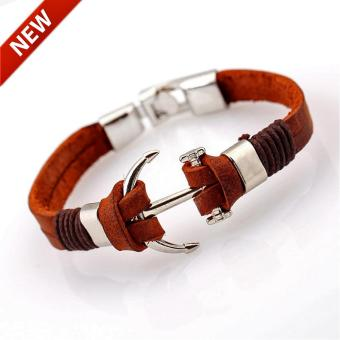 Genuine Brown Leather Anchor Bracelet Price Philippines