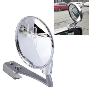 Vehicle Front Blind Area Wide-angle Adjustable Right Side Observation Mirror (Silver) - intl Price Philippines
